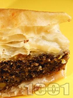 Баклава с готови кори с плънка - снимка на рецептата